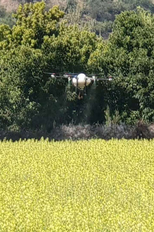 M6 Agri drone in action
